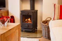 wood burner, holiday cottage